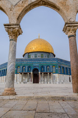 Temple mount view through arch #3