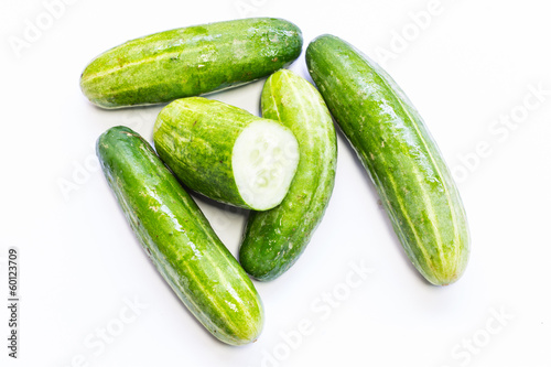 Isolated - Cucumbers