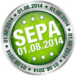 "Button ""SEPA"" August grün/silber"