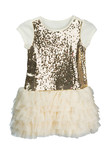 Festive baby dress with sequins