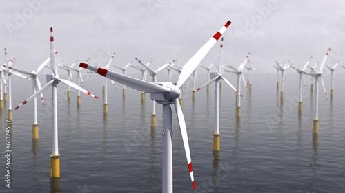 Zdjęcia na płótnie, fototapety, obrazy : windkraftwerk