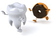 Tooth and donut