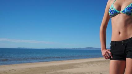Female Beach Shorts Torso Front