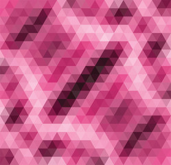 vector abstract pink mosaic pattern