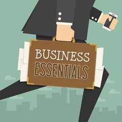 businessman working. conceptual business illustration.