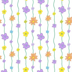 Summer Floral Seamless Pattern