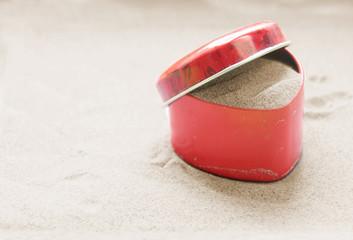 Herz auf Sand