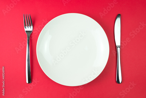 Leinwandbild Motiv Dinner plate