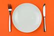 Leinwanddruck Bild - Dinner plate