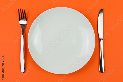 Leinwanddruck Bild Dinner plate