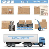 Vector Postal Icons Set 1