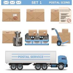 Vector Postal Icons Set 1