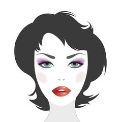 Woman face with makeup