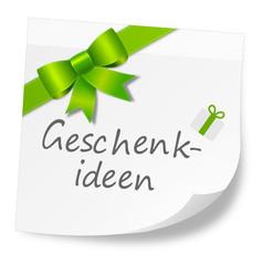Zettel grün Geschenkideen