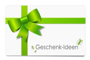 Karte grün Geschenkideen
