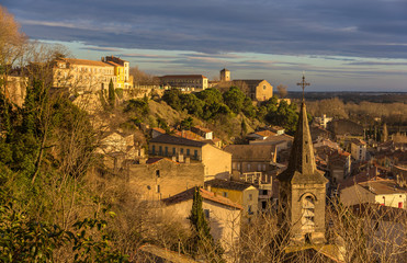 View of Beziers lower town from the Cathedral - France