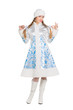Woman in snow maiden costume
