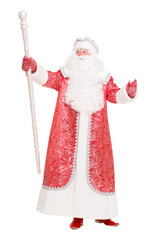 Father Frost wearing red coat