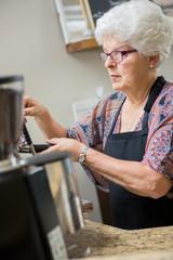 Barista Preparing Espresso in Cafe