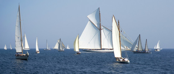 Regatta in the Gulf of Imperia, Italy