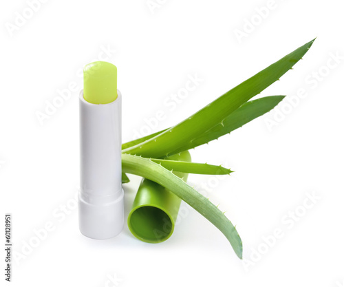 Hygienic lipstick with aloe leaf
