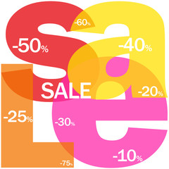 """SALE"" Letter Collage (marketing discount price store online)"