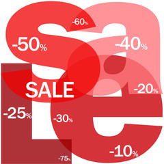 """SALE"" Letter Collage (discount buy store online marketing)"