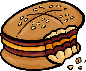 bitten cheeseburger cartoon clip art