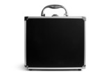 Black padded aluminum briefcase