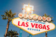 """ Welcome to Fabulous Las Vegas "" sign on a bright sunny day"