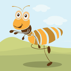 Very cute ant cartoon vector.