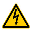 canvas print picture - titel: symbol for high voltage german elektrische spannung g412