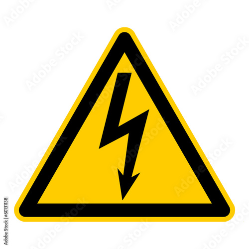 titel: symbol for high voltage german elektrische spannung g412