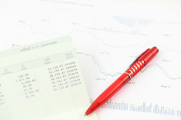 Accounting and stock chart
