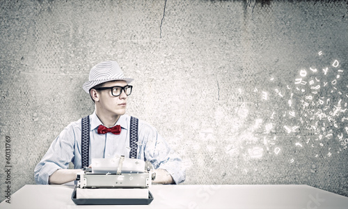 Young man writer