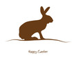Happy Easter - braune Silhouette