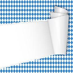 Oktoberfest - aufgrissenes Papier mit Textfreiraum