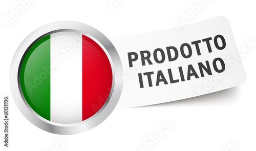 """Button mit Fahne """" PRODOTTO ITALIANO """""""