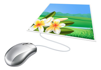 Mouse photo online internet concept