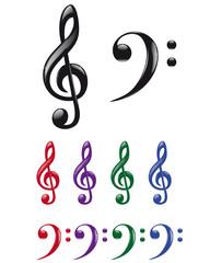 Musical keys set