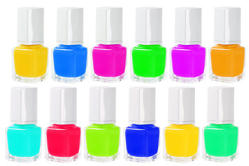 Colourful Nail Polishes