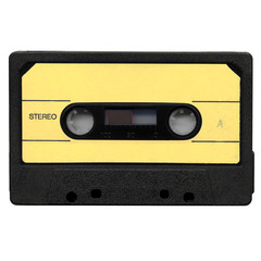 Tape cassette with yellow label