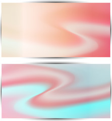 two multicolored wave soft pastel  abstract  background