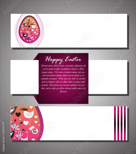 Easter vector .Banners