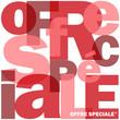 """Mosaïque de Lettres """"OFFRE SPECIALE"""" (courses shopping soldes)"""