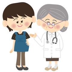 おばあちゃん先生と妊婦さん
