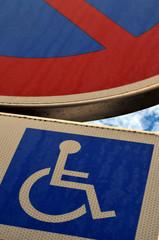 Photo stationnement handicap for Stationnement devant garage sans panneau