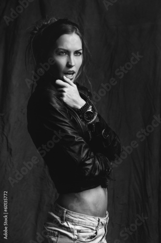 beautiful woman model posing  in the studio © Elena Kharichkina