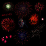 Collection of Multi Colored Fireworks