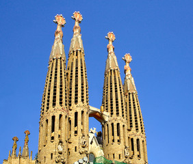 Cathedral Sagrada Familia in Barcelona, Spain. UNESCO WH